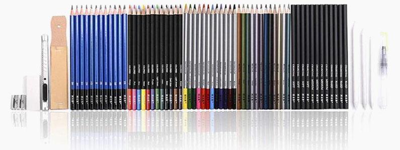 """Svinčniki za risanje in senčenje """"Sketch Kit"""", 72-delni komplet"""