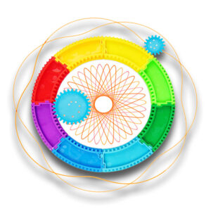 Ustvarjalno risalno pisalo + DIY Spirograph Magic Ruler Toys