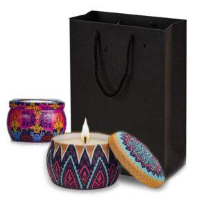 Aromatic Romantic Candle sveča iz naravnega sojinega voska 2.kosa & Darilna vrečka