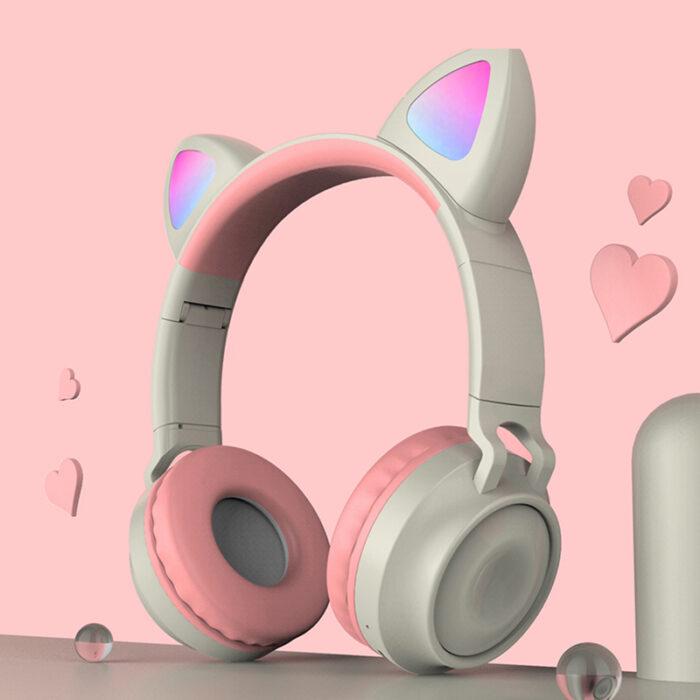 """Otroške zložljive brezžične slušalke """"Color Cat"""", Bluetooth: 5.0"""