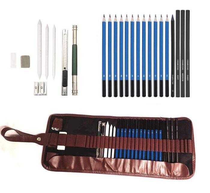 24-delni Roll Up Bag komplet svinčnikov za senčenje