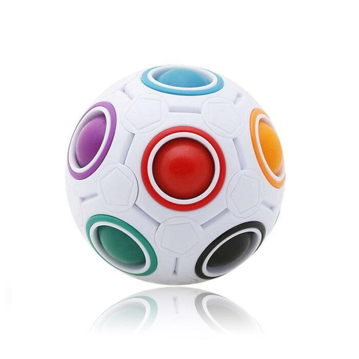 "Fidget Ball ""Magic Puzzle Ball"", mavrična kroglica antistresna igrača"