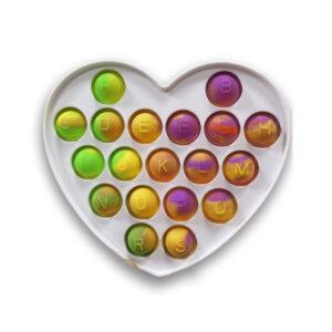 Pop it silikonska senzorična igrača Srce