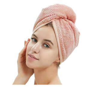 Vpojna brisača za hitrejše sušenje las, 100% bombaž