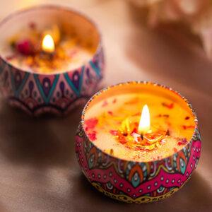 Aromatic Romantic Candle sveča iz naravnega sojinega voska 1
