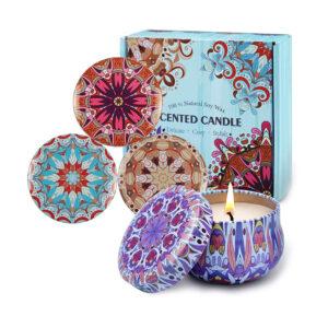 Aromatic Romantic Candle1 sveče iz naravnega sojinega voska SET