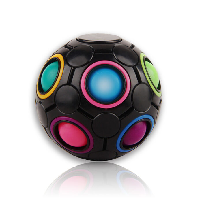 "Fidget Ball ""Magic Puzzle Ball Spin"", mavrična kroglica antistresna igrača"