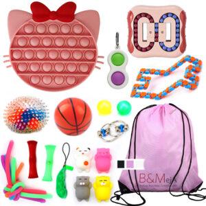 Fidget Toys SET 4, Zabavne antistresne igrače za otroke & nahrbtnik - Fidgettoys set2 C