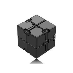 Infinity Cube Fidget antistres-senzorična igrača, črna