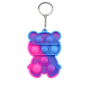 Pop It Keychain Among Us & Bear Bubble Fidget, antistresni obesek