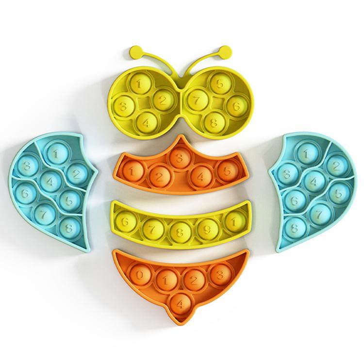 """Pop It igra Puzzle """"Bee Bubble"""", silikonska igrača za otroke"""