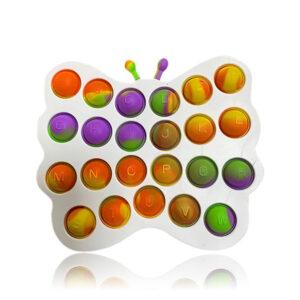 Pop it silikonska senzorična igrača Metulj