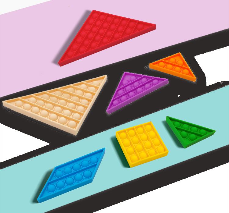 """SET 7 Pop It-ov, igra """"Tangram Lets pop"""" Antistresne-senzorične igrače. """"Fidget Toys"""" igrače spodbujajo duševni razvoj otrok. 17,70 €"""