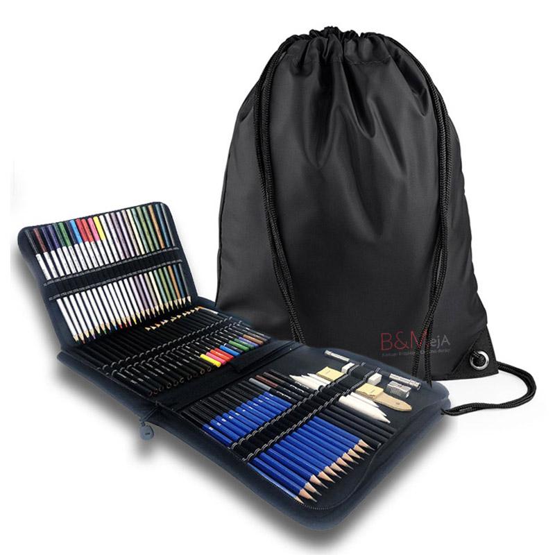 Svinčniki za risanje in senčenje 72.kos & Darilna vrečka, nahrbtnik
