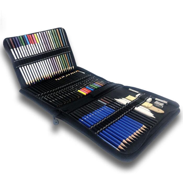 """Svinčniki in barvice za risanje in senčenje """"Sketch Kit"""", 72-delni komplet"""
