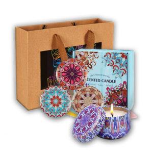 Odlično darilo Aromatic Romantic Candle sveče 4 x 70,8 g SET & Darilna vrečka