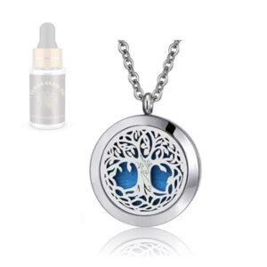 Obesek ogrlica z difuzorjem za aromaterapijo