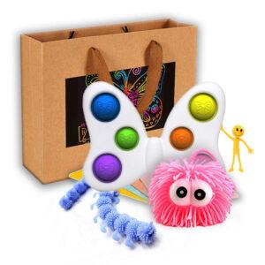 """Odlično darilo Fidget ToysSTRETCHING MINI + Darilna vrečka """"Scratch Art"""" Dodaj sporočilo"""