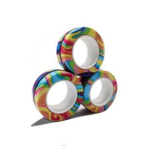Fidget magnetni krogi za lajšanje stresa, igrače za vrtenje