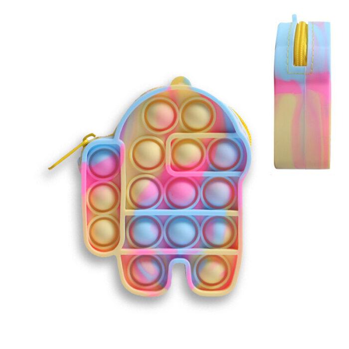 Pop It Denarnica Pop It Torbica/ Bubble Fidget Sensory Toy Bag Fidget